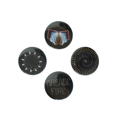 Neon bible button pack small arcade fire accessories for Miroir noir neon bible archives