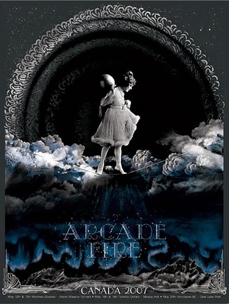 Canada 2007 arcade fire posters arcade fire online store for Miroir noir arcade fire