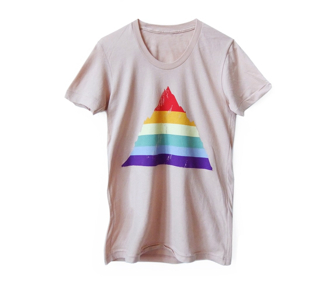 Rainbow mountain t shirt palm springs t shirts revel for T shirt city palm springs