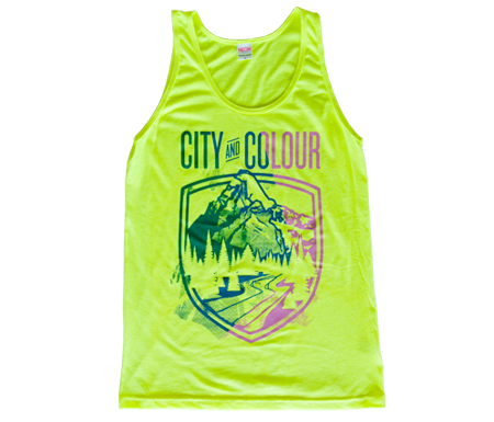 Neon Yellow Uni Festival Tank Top City and Colour #0: cc city and colour uni festival tank top neon yellow d