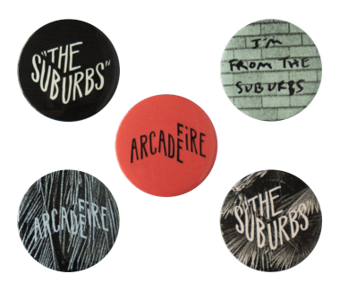 The Suburbs Button Pack