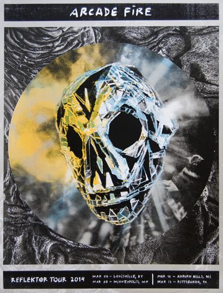 Reflektor tour 2014 ky mn mi pa arcade fire posters for Miroir noir arcade fire