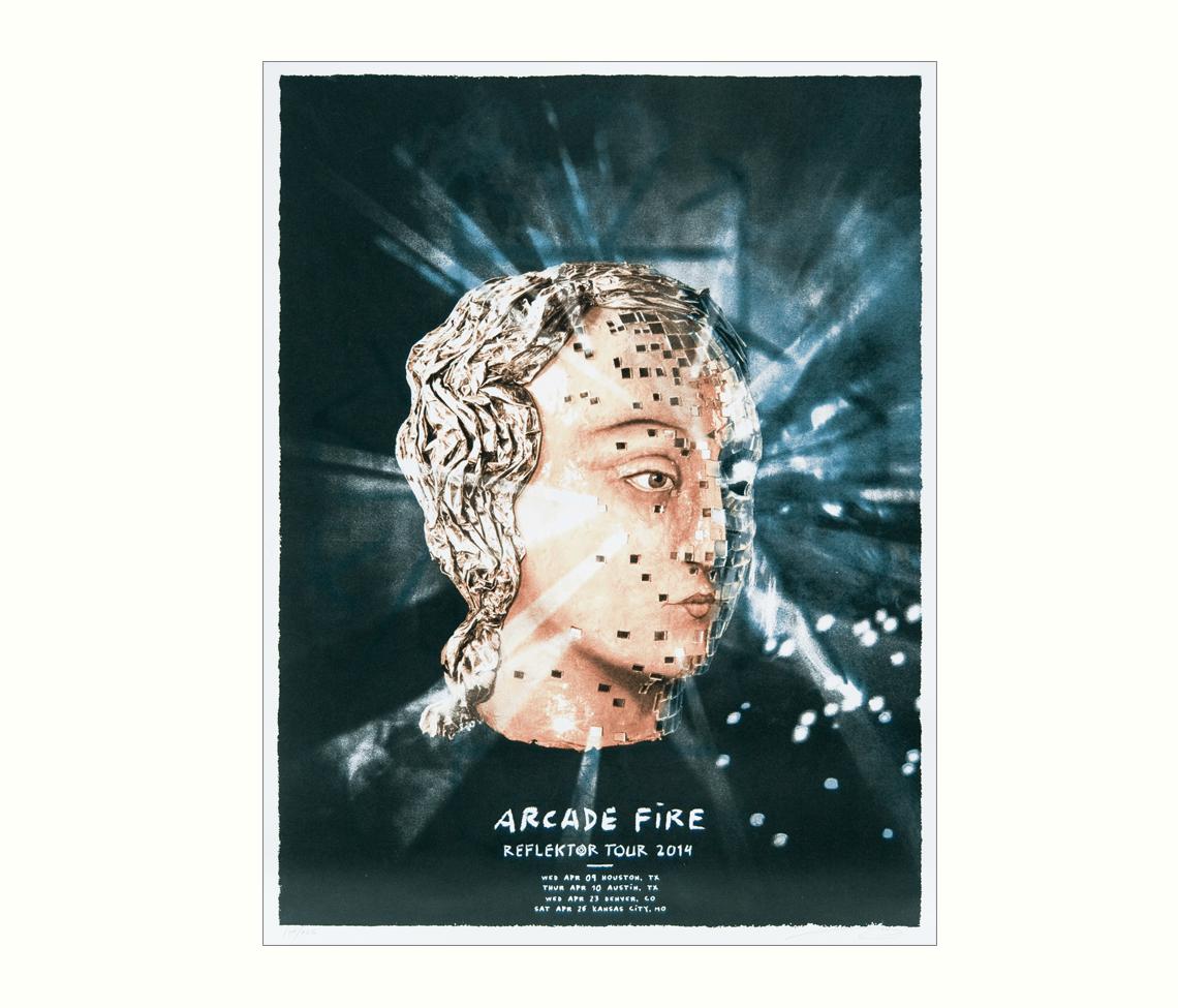 Reflektor Tour 2014 Tx Co Mo Posters Arcade Fire