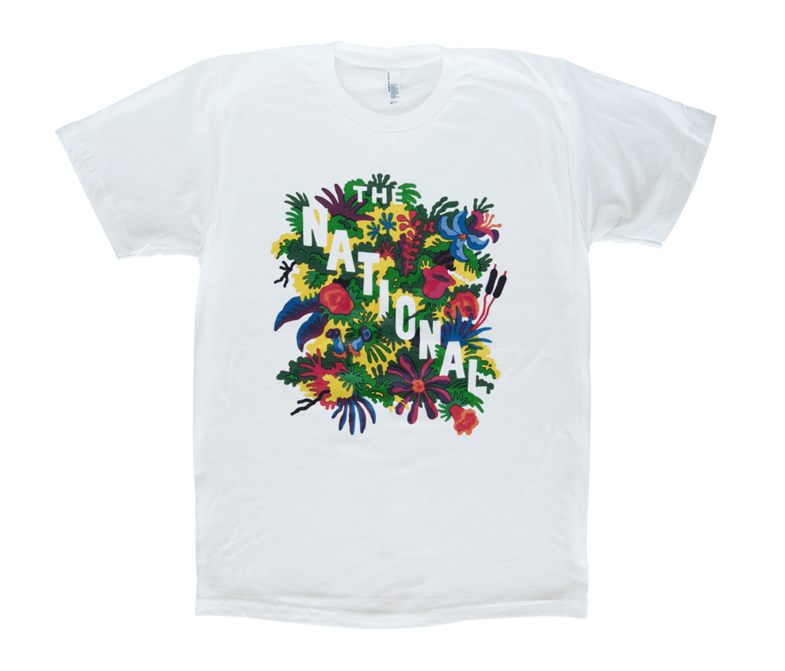 Men 39 s flowers t shirt white t shirts the national for T shirts store online