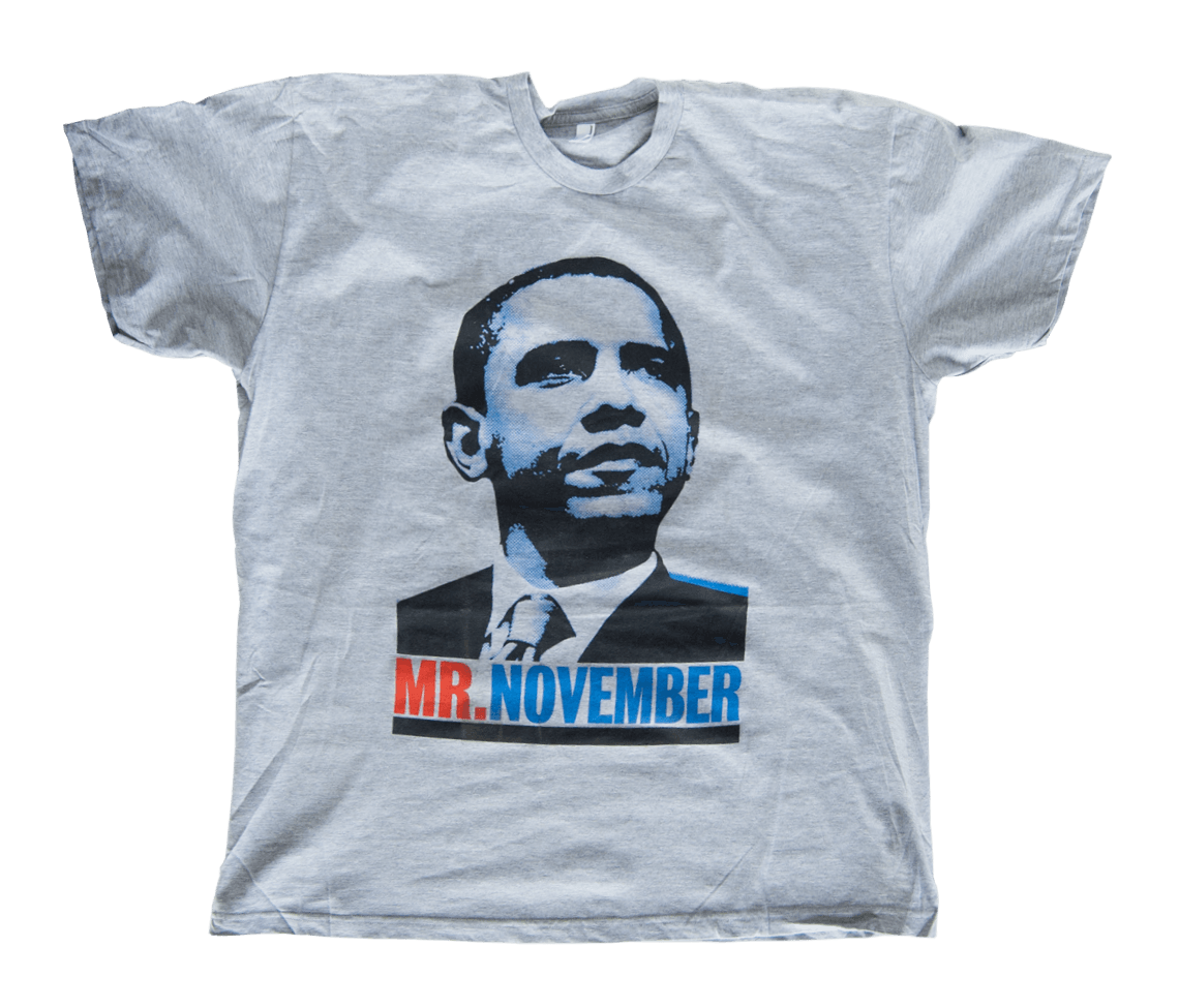 Men 39 s obama t shirt heather grey t shirts the for Mens heather grey t shirt