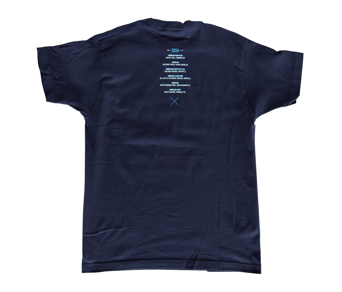 2014 spring tour t shirt navy t shirts the national