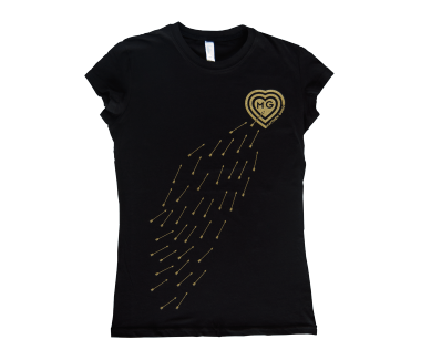 Women's Arrows of Desire T-Shirt Black
