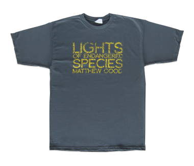 Men's Lights Of Endangered Species T-Shirt Asphalt