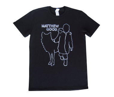 Men's Boy and Wolf T-Shirt Black