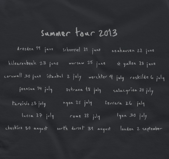 Women's Summer Tour 2013 T-shirt