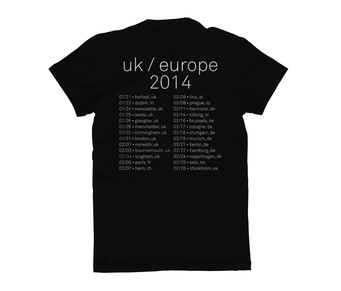 women 39 s euro tour 2014 t shirt black featured city and colour online store. Black Bedroom Furniture Sets. Home Design Ideas