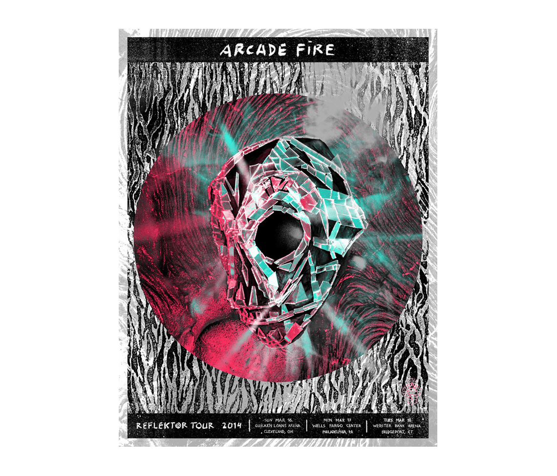 reflektor tour 2014 oh pa ct posters arcade fire online store