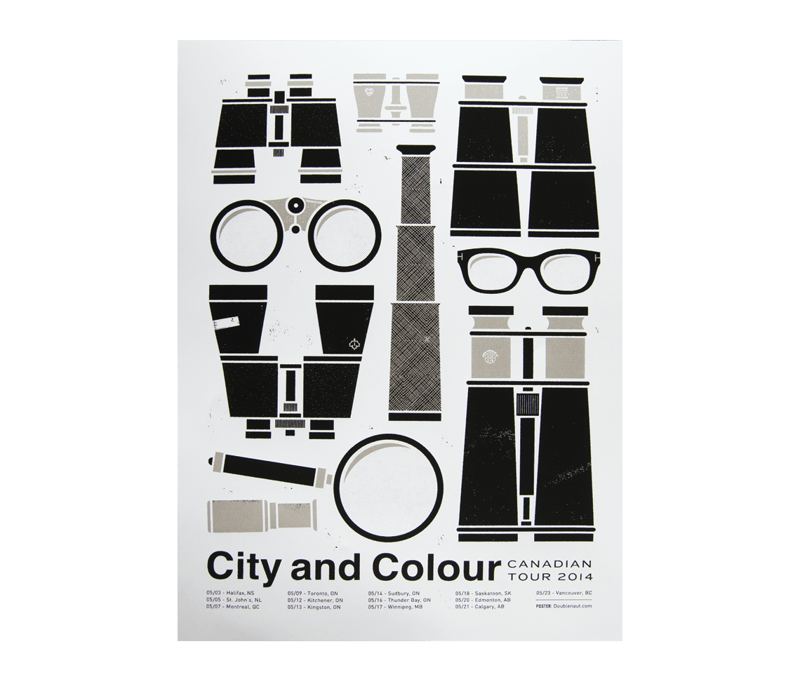canada tour 2014 poster posters city and colour online store. Black Bedroom Furniture Sets. Home Design Ideas