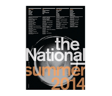 2014 Euro Summer Tour Poster  (SOLD OUT)