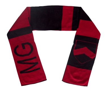 Crest Scarf Red/Black