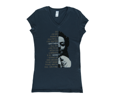 Women's Face T-Shirt Indigo