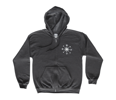 Wolf Zip Hoodie Dark Heather
