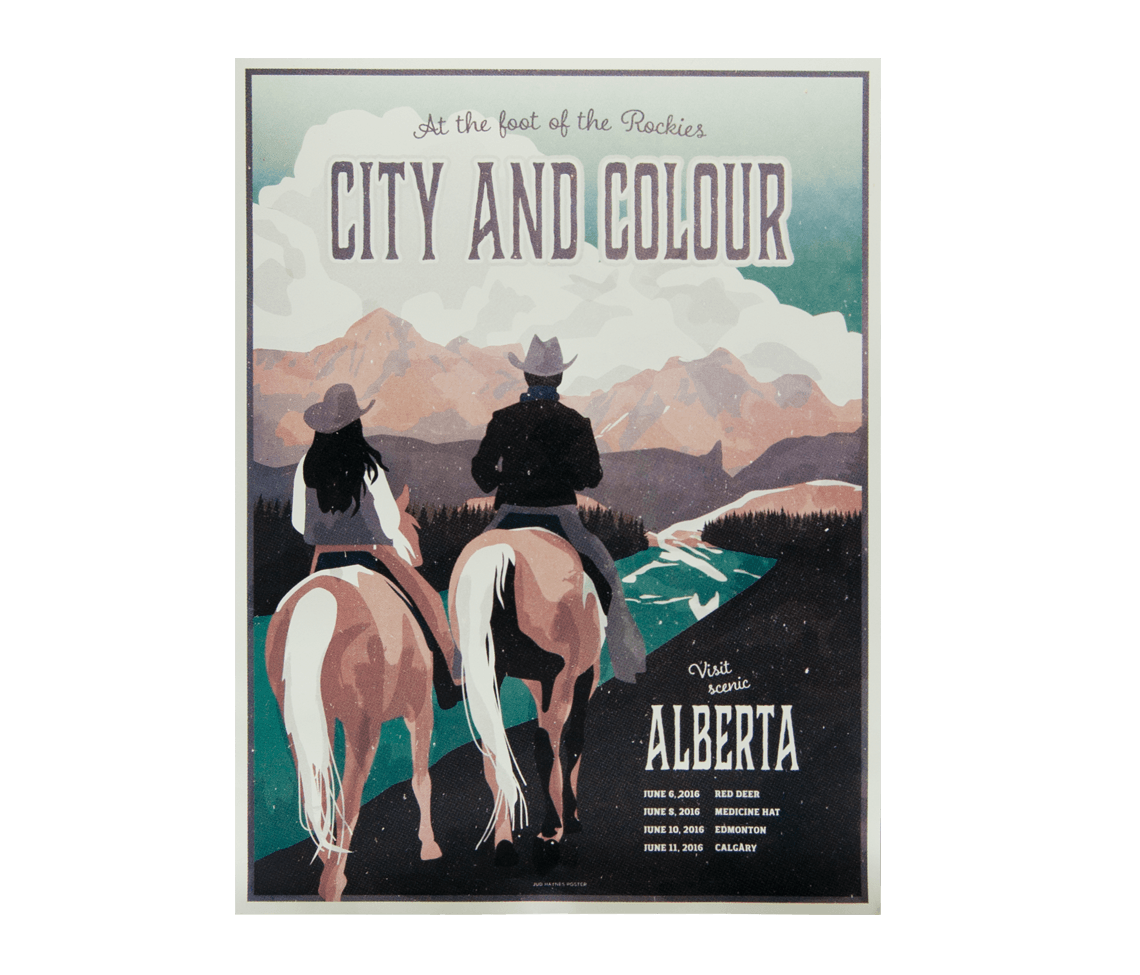 canada tour 2016 alberta poster posters city and colour online store. Black Bedroom Furniture Sets. Home Design Ideas