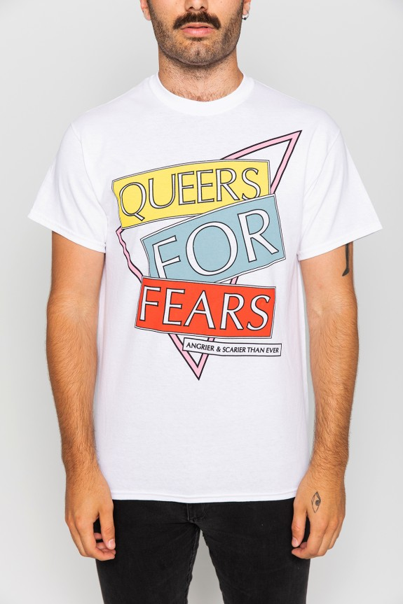 8cba37ad25b Queers For Fears T-Shirt - White - T-Shirts - Revel   Riot Online Store