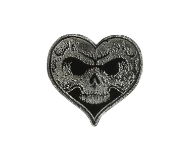 Heart Skull Lapel Pin - Standard Edition