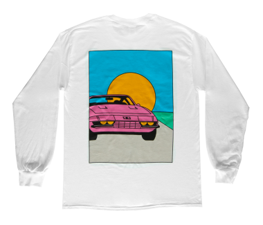 Sports Car Sunset Longsleeve