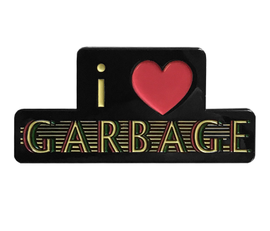 "I ""Heart"" Garbage Lapel Pin"
