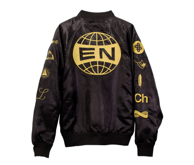 Everything Now Satin Bomber Jacket