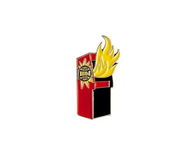 Arcade on Fire Lapel Pin