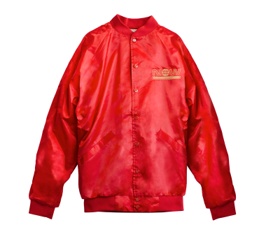Everything Now Satin Baseball Jacket