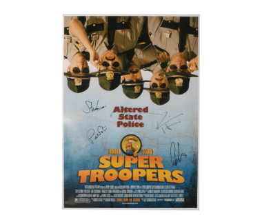 Autographed Super Troopers Poster (12X18)