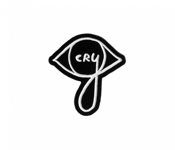 Cry Lapel Pin