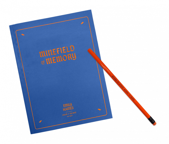 Autographed Minefield of Memory Notebook + Pencil