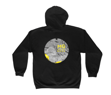 Something Like A Storm Zip Hoodie Black