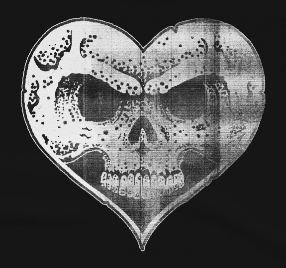 Photocopied Heart Skull T-Shirt