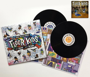 "Floor Kids: Original Video Game Soundtrack 2x12"" Vinyl Plus Download of Floor Kids Game on Nintendo Switch"