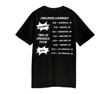 PARTY TOUR T-SHIRT  DECEMBER 2018