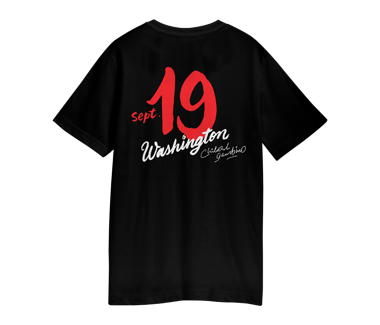 VISITOR PASS T-SHIRT WASHINGTON DC - SEPT 19 2018