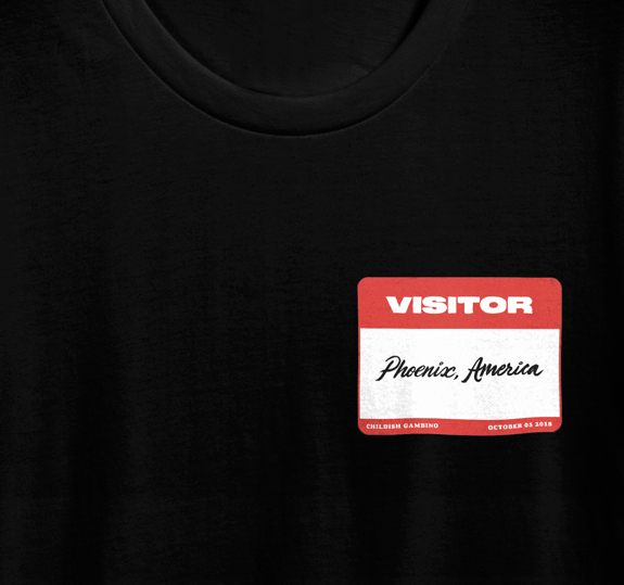 VISITOR PASS T-SHIRT PHOENIX - OCT 5 2018