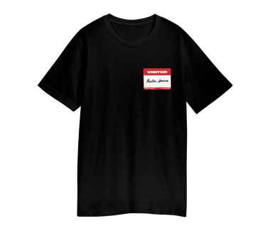 VISITOR PASS T-SHIRT AUSTIN - OCT 7 2018