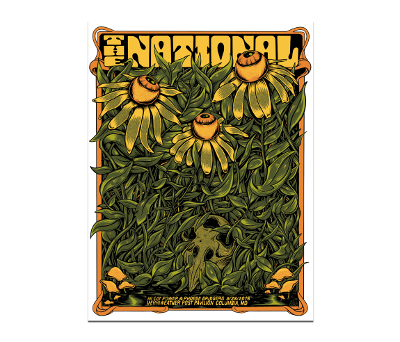 Columbia Merriweather Post Pavilion Poster September 28, 2018 (SOLD OUT)