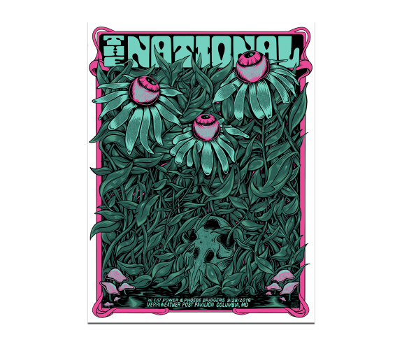 Columbia Merriweather Post Pavilion PosterSeptember 28, 2018Cherry Tree Variant  (SOLD OUT)