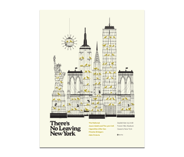 New York City Forest Hills PosterSeptember 29, 2018Cherry Tree Variant(SOLD OUT)