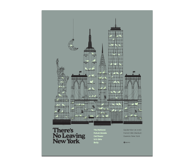 New York City Forest Hills PosterSeptember 30, 2018Cherry Tree Variant(SOLD OUT)
