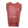 Women's Sleep Well Tape Muscle Tank