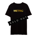 METRIC Logo Gold Foil PrintLimited Edition