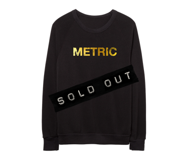 METRIC Logo Gold Foil PrintLimited Edition Crew Neck Sweatshirt