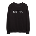 METRIC Logo Silver Foil PrintLimited Edition Crew Neck Sweatshirt