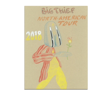 BIG THIEF North American Tour 2018 Poster
