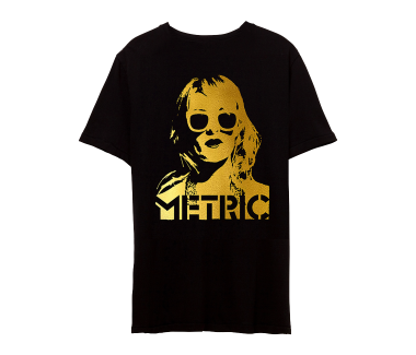 EMILY FACE Gold Metallic PrintLimited Edition Tee