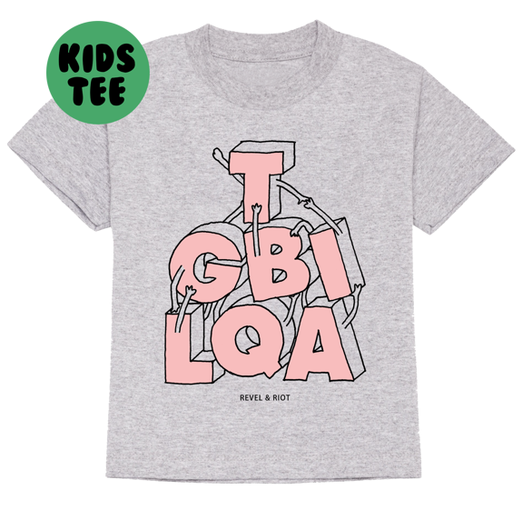 LGBTQIA Pyramid Kids T-shirt